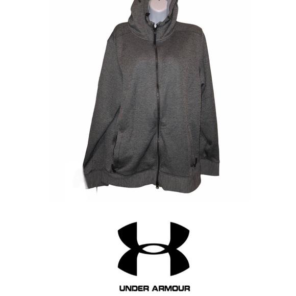 UNDER ARMOUR Men's Grey Zip Up Hoodie Medium